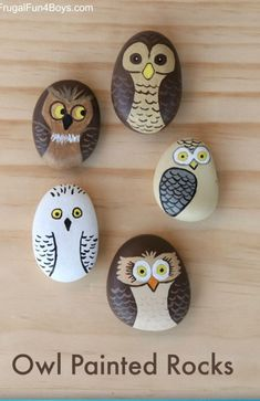 Get creative with these DIY painted rocks. From mandala rocks to easy painted rock crafts for kids, there are plenty of ideas for inspiration. Owl Crafts, Kids Crafts, Arts And Crafts, Easy Crafts, Diy For Kids, Summer Crafts, Diy Projects For Kids, Canvas Crafts, Creative Crafts