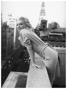 Marilyn Monroe  by Ed Feingersh | Taken on the roof of Hotel Ambassador in New York