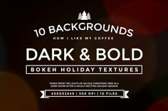 10 Holiday Background Bokeh Textures by TwelveNinety on Creative Market