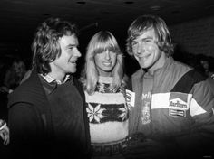 James Hunt and motor cycle racer Barry Sheene