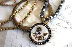 Historic Jewelry Victorian Flower Antique Button by veryDonna