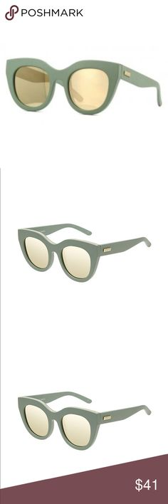 🆕🕶 NWT Le Specs Sunglasses - Matte Olive/Gold Very stylish new with tag (NWT) Le Specs Air Heart sunglasses in matte olive with gold lenses - perfect fall colors. Unfortunately does not come with original case, but I will include a nice sturdy case (pictured) along with a cleaning cloth. Le Specs Accessories Sunglasses