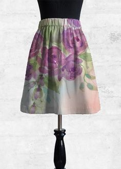 Cupro Skirt - Natura Flora Poppy by VIDA VIDA Cheap Perfect j36d2o