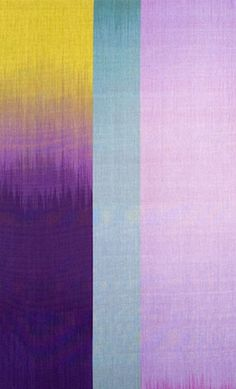Contemporary Applied Arts: Ptolemy Mann Weaving Art, Tapestry Weaving, Hand Weaving, Painted Warp, Subtractive Color, Three Primary Colors, Ikat Pattern, Curtain Patterns, Ikat Fabric