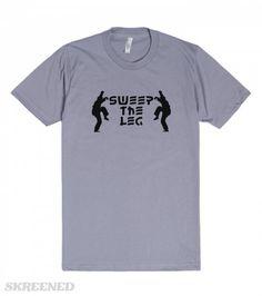 Sweep The Leg Karate Kid 80s tshirt | Karate Kid, Sweep the Leg. Tshirts for 80s movie fanatics.  #Skreened