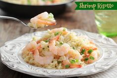 This yummy Shrimp Risotto Recipe uses just 5 ingredients and is ready in about 30 minutes!