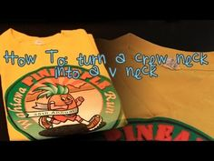 How To Turn a Crew Neck Tee Shirt into a V-Neck - Very good video, answered all the specific questions I had. And with hand sewing! (because me and sewing machines don't get along)