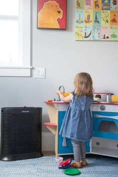 Keep the kid's playroom free of allergens and germs with the Honeywell True HEPA Whole Room Air Purifier with Allergen Remover. Sponsored.