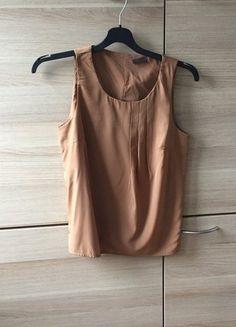Kaufe meinen Artikel bei #Kleiderkreisel http://www.kleiderkreisel.de/damenmode/tanktops/144479123-leichtes-top-fur-den-sommer-bronzefarben-mit-falten-vero-moda