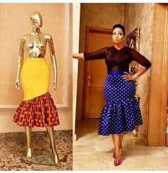 Flaring South African Traditional Dresses For Women 2019 African Print Skirt, African Print Dresses, African Wear, African Attire, African Dress, Latest African Fashion Dresses, African Print Fashion, Africa Fashion, Ankara Fashion