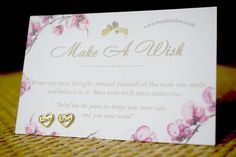 Gold Earrings  Love Hearts  Make A Wish Gift Card Included