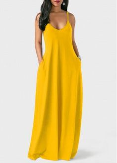 Style: Casual Pattern Type: Solid Neckline: V Neck Sleeve Style: Spaghetti Strap Sleeve's Length: Sleeveless Silhouette: Straight Material: Polyester Dress Leng