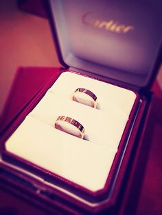 Wedding bands from Cartier! :)