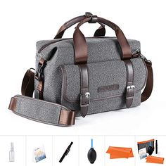 K&F Concept DSLR SLR Camera Shoulder Bag Sling Case w Strap Waterproof for Canon for sale online Dslr Camera Bag, Sony Camera, Camera Case, Nikon, Compact, Photography Accessories, Dslr Photography, Ipad, Camera Accessories