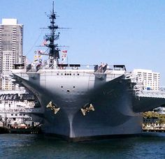 The USS Midway is an aircraft carrier that was commissioned after the second world war.  She was active in Vietman as well as operation Desert Storm.  In January, 2004 she was docked in San Diego and was opened to the public as a museum later that year.