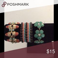 BUNDLE OF 3 FASHION BRACELETS NWOT NWOT BUNDLE OF 3 FASHON BRACELETS Jewelry Bracelets
