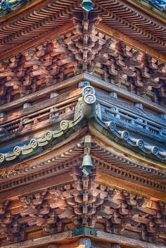 The detail of Japanese pagoda
