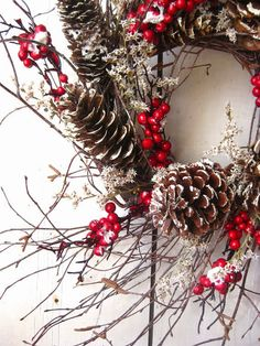 This simple Nordic inspired Christmas wreath is just sooo beautiful and not too tricky to replicate ... perfect if you love Scandinavian style Christmas decorations ...