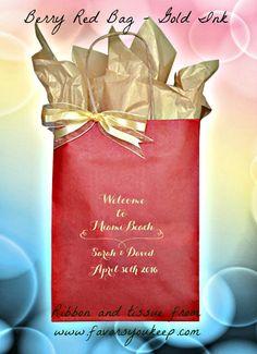 25 Wedding Welcome Bags Personalzed Wedding by WelcomeBagsWeddings