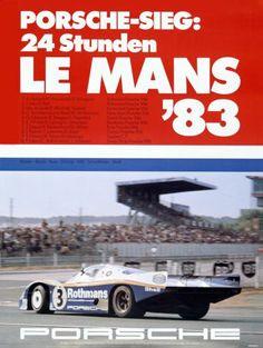 VINTAGE 1982 PORSCHE 956 RACE CAR POSTER Art Fabric HD PRINT Wall Decor