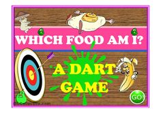 WHICH FOOD AM I? - a dart game