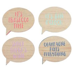 SET OF 4 SPEECH BUBBLE COASTERS
