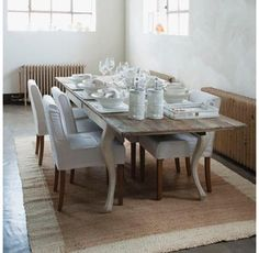 Ready for diner. Dining Room Table, Table Settings, Euro, Inspiration, Furniture, Kitchens, Home Decor, Ideas, Food