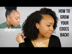 Learn how to grow back edges with castor oil with these helpful tips and tricks to regrow your natural hair with castor oil in differe. Natural Hair Flat Twist, Fine Natural Hair, How To Grow Natural Hair, Natural Hair Tips, Natural Hair Growth, Natural Hair Journey, Natural Hair Styles, Healthy Hair Growth, Hair Growth Tips