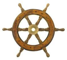 """Amazon.com: 12"""" Wood Ship Wheel - Pirate Shipwheel - Nautical Decor: Home & Kitchen"""