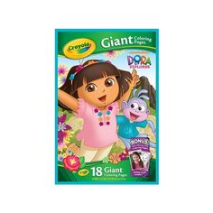 Giant Coloring Pages Nickelodeon Dora the Explorer (145 MXN) ❤ liked on Polyvore featuring accessories