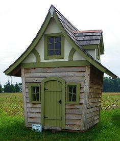 i would love this shed in my yard!! looks like a storybook!!
