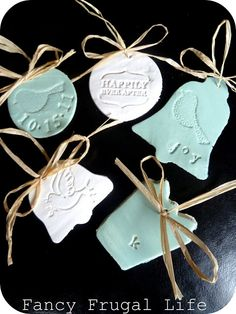 Stamped Clay Ornaments |