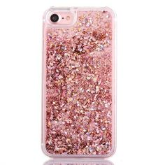 Luxury Rose Gold Glitter Flakes Case For iPhone 6 6s 37a97ee5c