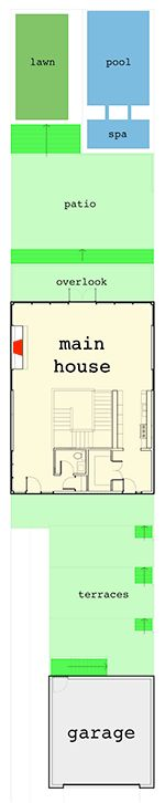Multi-Level Modern Houso Plan For The Rear Sloping Lot - 44150TD floor plan - Layout as shown