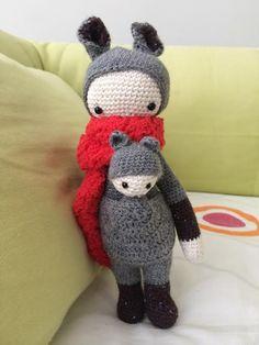 KIRA the kangaroo made by Maria I. / crochet pattern by lalylala