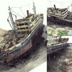 "Diorama ""The Crossing太平輪1949"" by YC's scale models (FBK) #scalemodel #plastimodelismo #usinadoskits #udk #hobby #modelismo #miniatura #miniature #maqueta #maquette #diorama #modelism #modelisme"