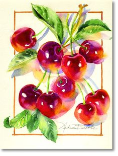 Акварель Hair Color Ideas hair color ideas for black women Watercolor Fruit, Fruit Painting, China Painting, Watercolor Cards, Fabric Painting, Watercolour Painting, Watercolor Flowers, Painting & Drawing, Watercolours