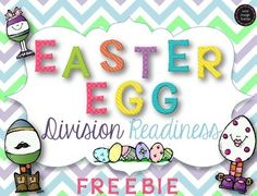 Grab some plastic Easter eggs and some Easter baskets and you have an instant engaging math center! Perfect for end of year 2nd grade division readiness and 3rd grade division practice!Download includes 12 task cards, recording sheet, and answer key. Common core aligned: CC.2.OA.4: Use addition to find the total number of objects arranged in rectangular arrays with up to 5 rows and up to 5 columns; write an equation to express the total as a sum of equal addends.CC.3.OA.2: Interpret ...