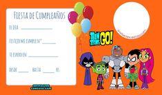 Montaje fotografico wrfds - Pixiz Teen Titans Go, Ideas Para Fiestas, Gotham, Baby Shower, Invitations, Birthday, Frame, Party, Evans