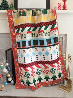 Ho! Ho! Ho! Row Quilt Kit a Mari Martin design
