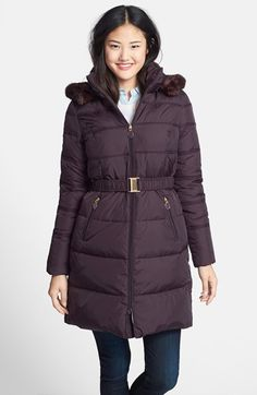 T Tahari 'Mali' Belted Down & Feather Fill Walking Coat (Regular & Petite) available at #Nordstrom