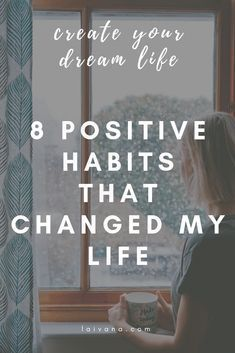 8 habits that changed my life // positive habits that have improved my life and you can start implementing them today. how I created a successful morning and night routine, how I manage my time, organize my environment etc. // personal development // self Good Habits, Healthy Habits, Self Development, Personal Development, Habits Of Successful People, Self Improvement Tips, Self Care Routine, Positive Mindset, Change My Life