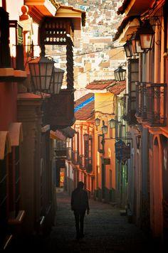 Calle Jaén, La Paz Bolivia
