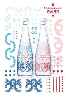 エビアンのデザイナーズボトル10周年のコラボはクリスチャン・ラクロワ! #evian #エビアン