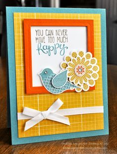 Stampin Up Polka Dot Pieces Birthday Card; Card Creations by Beth