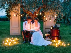 My Tuscan Wedding Photo Booth- Photo booth in olive trees