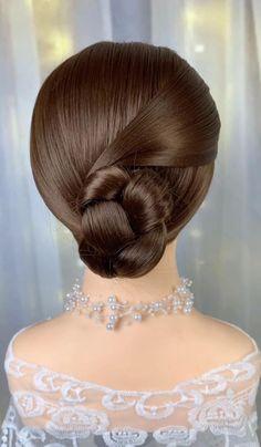 Easy Hairstyles For Thick Hair, Hair Tutorials For Medium Hair, Braids For Long Hair, Up Hairstyles, Front Hair Styles, Medium Hair Styles, Hair Style Vedio, Hair Curling Tips, Ballroom Hair