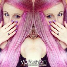 capelli colorati extension colorazione rosa punk
