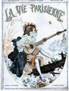 La Vie Parisienne 1918 cover - La Vie parisienne (magazine) — Wikipédia Old Magazines, Vintage Magazines, Vintage Ads, Vintage Artwork, Framed Artwork, Illustrations, Illustration Art, France Drawing, Advertising Archives