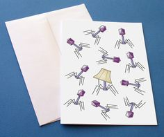 Hey, I found this really awesome Etsy listing at https://www.etsy.com/listing/170719491/bacteriophage-greeting-card